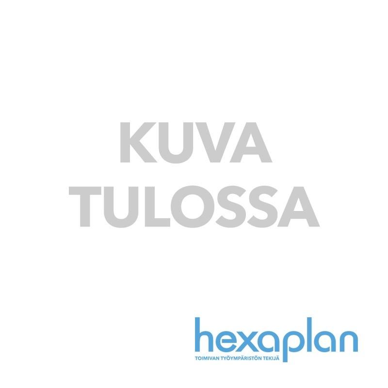 Kulmanimikelistat ylähyllyyn varastossa ja myymälässä, vaahtoteippi- tai magneettikiinnitys